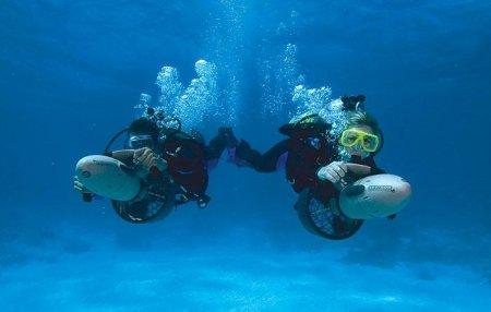 PADI Propulsion Vehicle Diver (погружение с подводными буксировщиками)