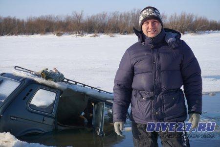 Спасение машины из-подо льда