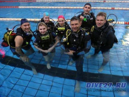 Мы вновь в бассейне, группа OWD